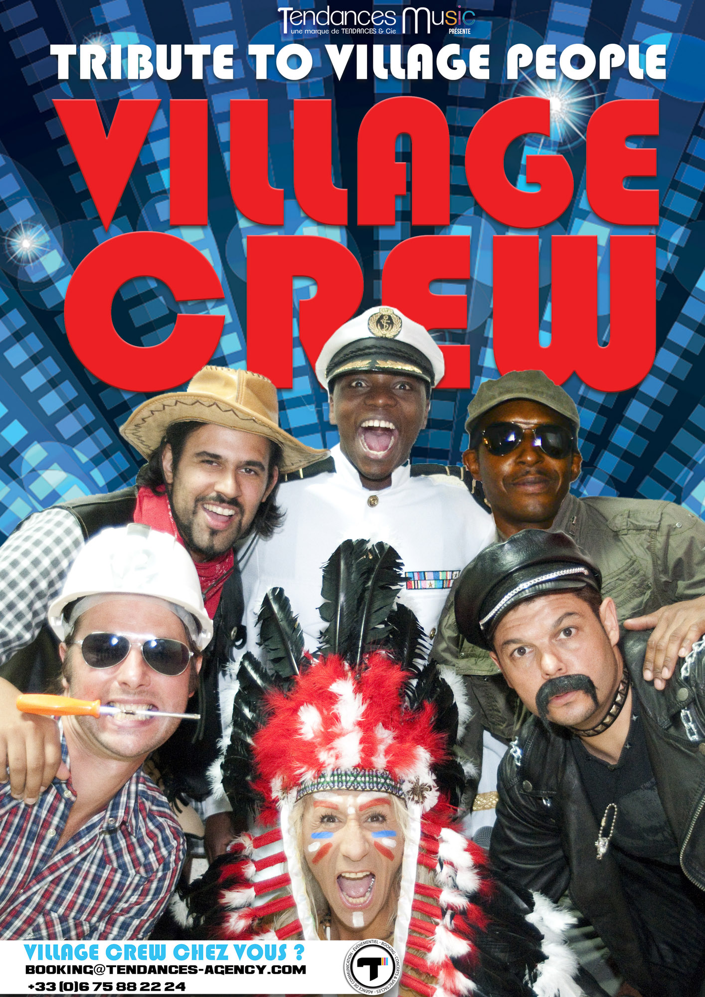 Affiche Village Crew - Tribute to Village People